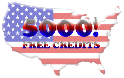 5000 free credits for joining!! Join today!